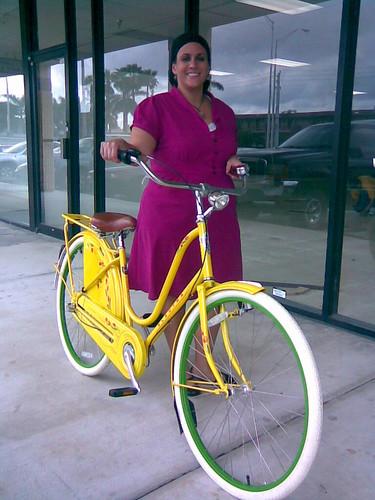 Yvi and Her New Bike