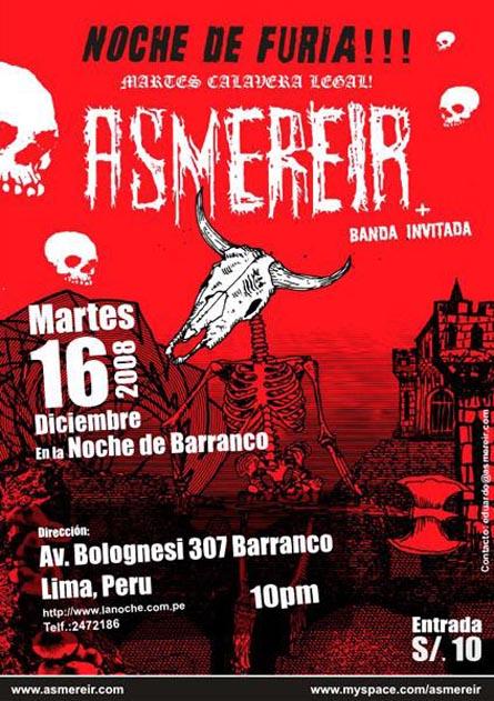 Asmereir La Noche Barranco Concierto
