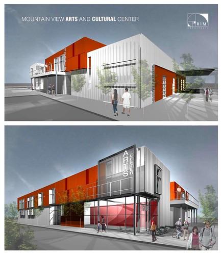 Conceptual exterior renderings.