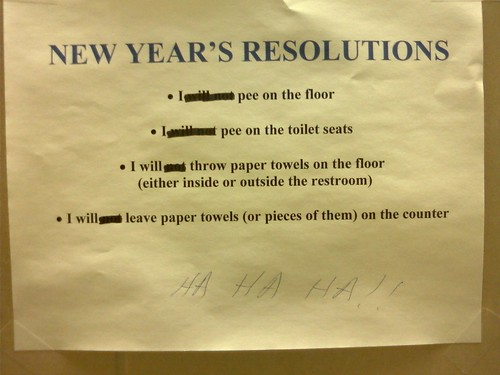 Short on New Year s resolutions  The janitor has a few suggestions     FIXED THAT FOR YOU