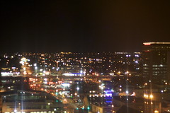 A view from our room at night.