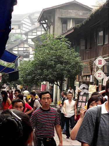 Ciqikou tourist crowds