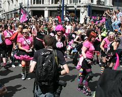 Roller Derby, London Pride, 2008