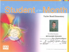 Student of the Month 2008