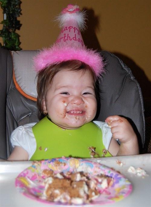 she loves her some cake :)