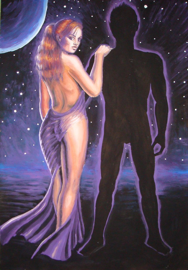 This is my painting of Psyche and Cupidon