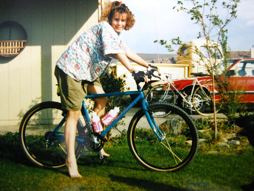 Kristy with 1990 Specialized Rockhopper