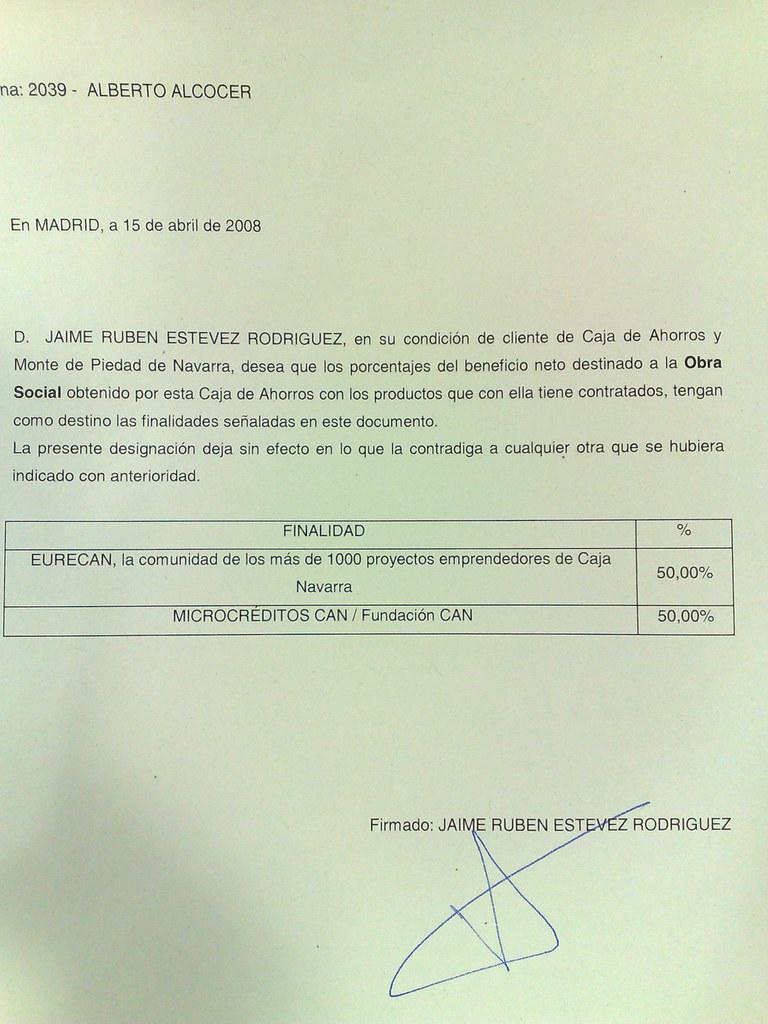 Banca C�vica y apoyo a emprendedores en Caja Navarra