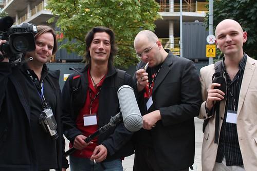the camera crew