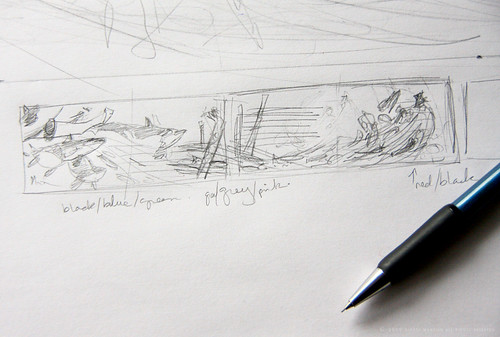 book illustration - thumbnail drawing