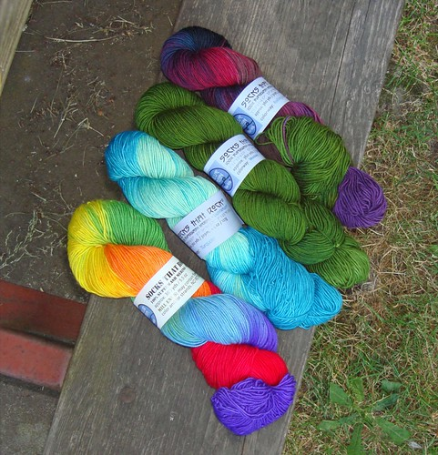 Socks That Rocks stash from Black Sheep Gathering 2008.