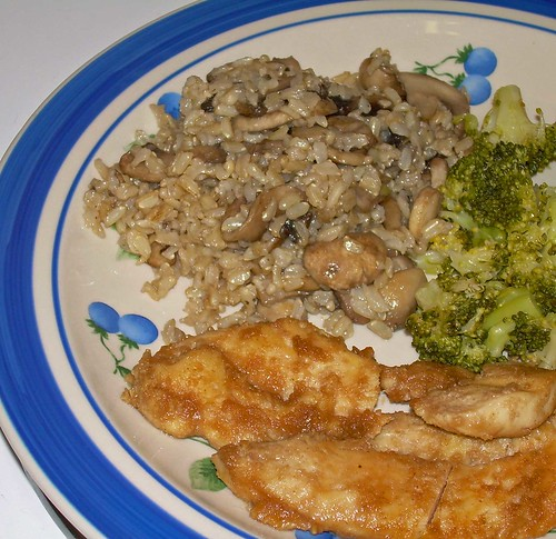 Chicken and Mushrooms and Broccoli and Dinner