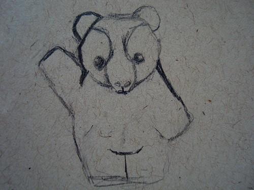 plush totem bear sketch