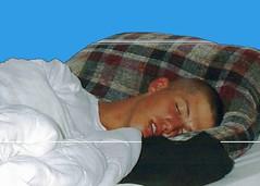 sleeping marine