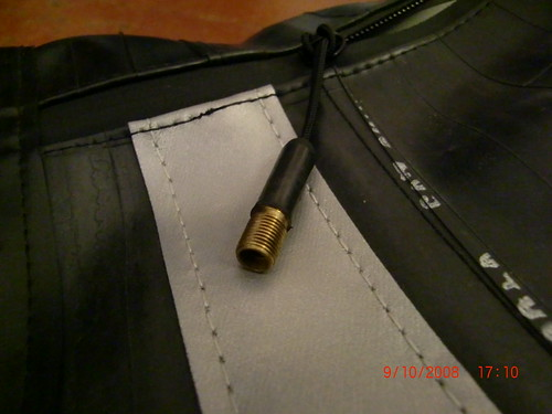 the zipper pulls are made from valves