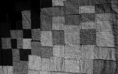 palest of tweeds to black