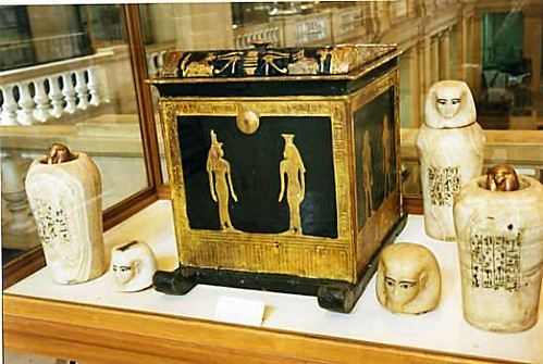 canopic chest and jars