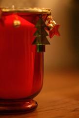 Christmas Hurricane Lamp.