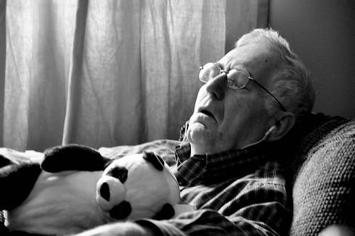 sleeping grandpa
