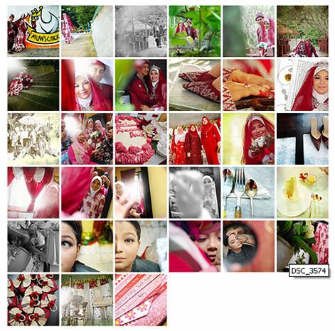 collage wedd - fasya & izan