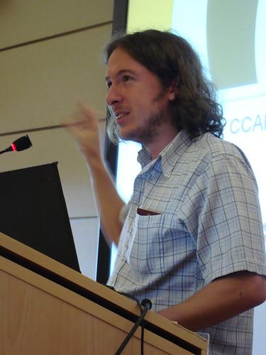 Andy Jarvis giving a seminar on CCAFS at ILRI Nairobi