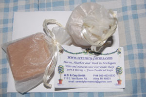 serenity farms candle and soap