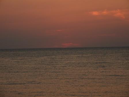 笹川流れの夕日 9月14日