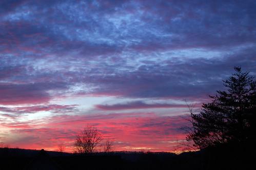 Sunset on 12/8/08