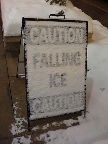 Caution Falling Ice