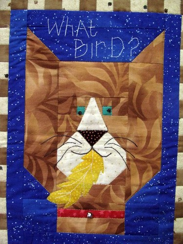 Birds, by Dale Losey, The Fabric Stalkers May 2011 Gallery Exhibit @Quiltworks