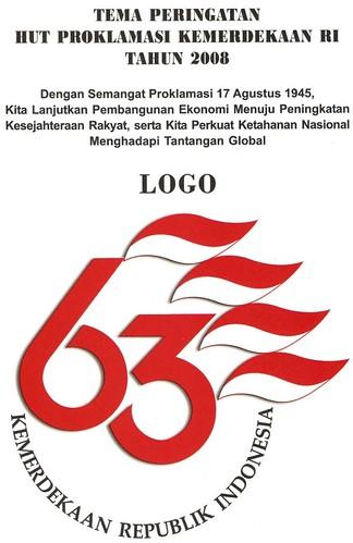 Logo 63 tahun HUT Proklamasi Kemerdekaan Indonesia 2008 by Yan Arief.