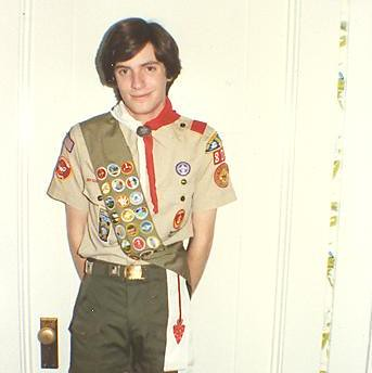 En route to Eagle Scout rank