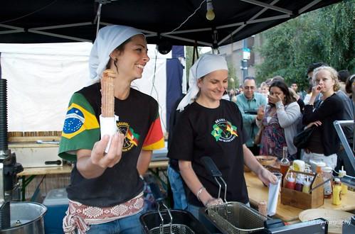 Brasilian Churros, filled with caramel