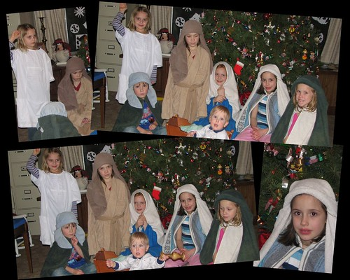 Christmas Eve Nativity Collage