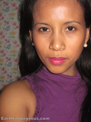 me wearing Forever Fuscia