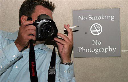 No fumar, no fotografiar