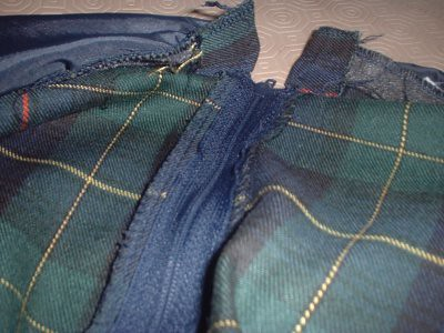 ultimate in frugality - reusing zips!
