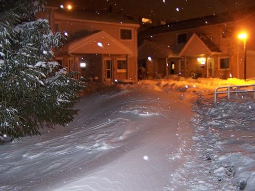 and still, it snows!