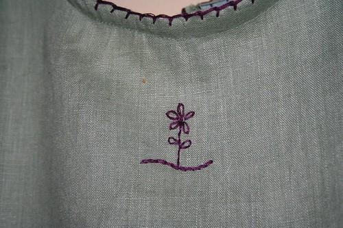 Upclose of flower on Dress I