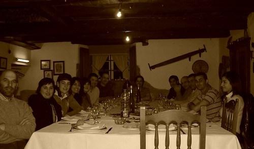 Cena con mi equipo de fútbol y la afición