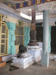 Dwajasthambam of the  Amman Shrine