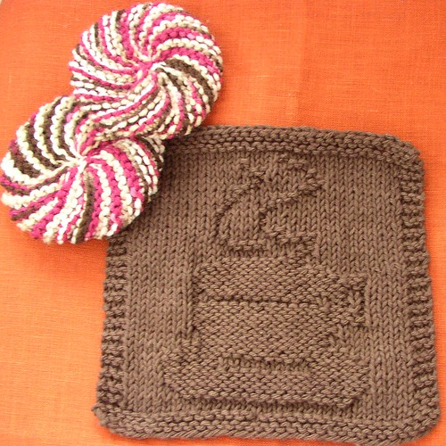 coffee washcloth & tribble scrubbies