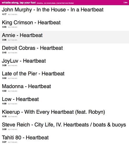 muxtape, heartbeat edition