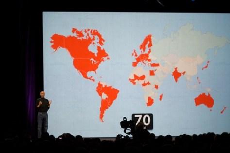 iPhone en 70 paises