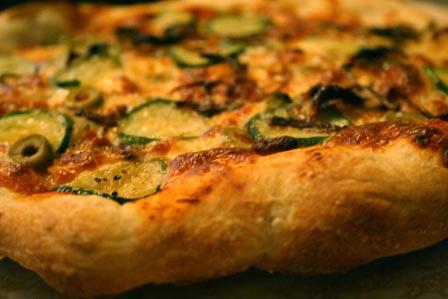 Zucchini and Caramelized Onion Pizza