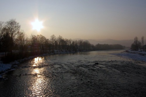 Dunajec in winter