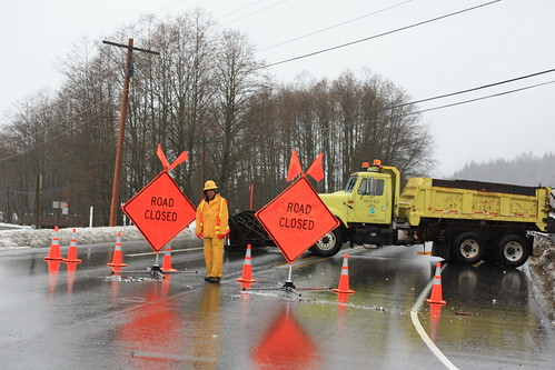 SR 20 - Closed Near Hamilton by Washington State Dept of Transportation.