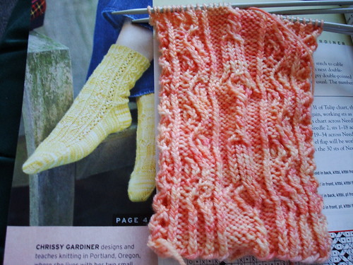 Twisted Tulip Sock