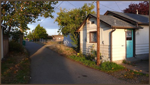 Alley, downtown Sequim, Washington.
