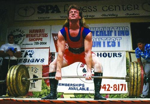 John Inzer deadlifting 780 lbs at 165 lbs of bodyweight.